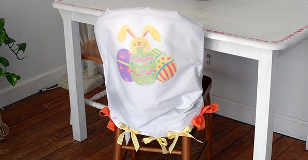 Easter Egg and Bunny Chair Cover