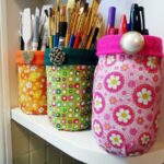 Mod Podge Fabric Jars