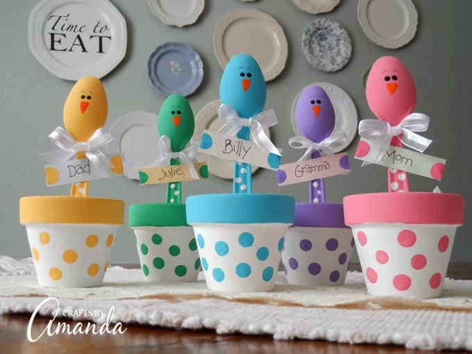 Plastic Spoon Chicks For Easter A Colorful Easter Placeholder