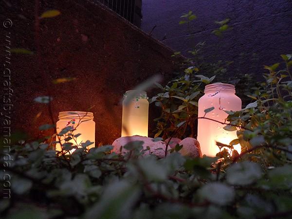 Beaded Frost Luminaries from CraftsbyAmanda.com @amandaformaro