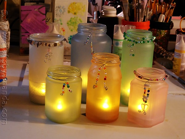 Beaded Frost Luminaries from CraftsbyAmanda.com @amandaformaro