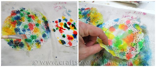 Paper Doily Butterfly Craft from CraftsbyAmanda.com @amandaformaro