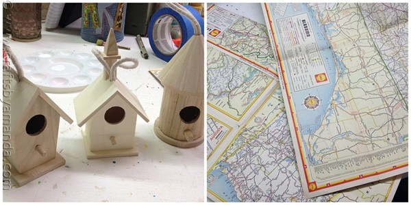 Road Map Birdhouses from CraftsbyAmanda.com @amandaformaro