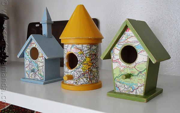 Road map birdhouses crafts by amanda for Birdhouse project