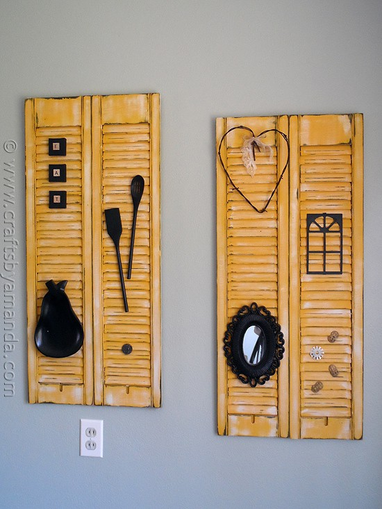 Makeover: Distressed Shutters at CraftsbyAmanda.com @amandaformaro
