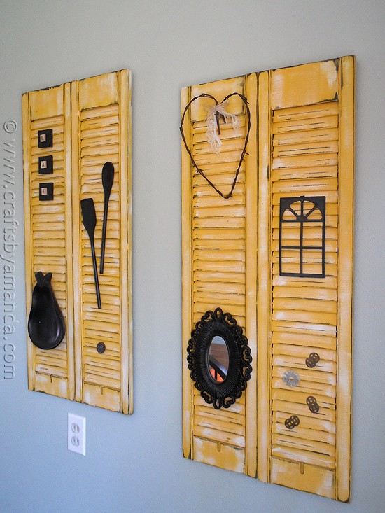 Makeover distressed shutters crafts by amanda for Arts and crafts exterior shutters