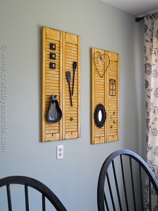 Makeover Distressed Shutters Crafts By Amanda