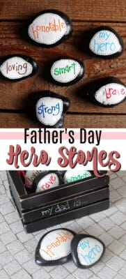 father's day hero stones pin image