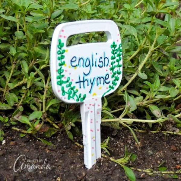 Recycled Key Garden Markers