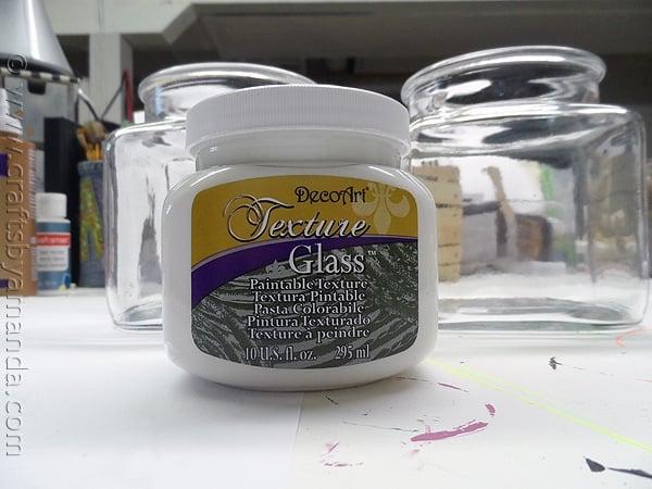 Textured Glass Beach Canisters via CraftsbyAmanda.com @amandaformaro