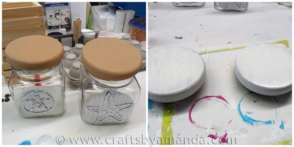 Textured Glass Beach Canisters via CraftsbyAmanda.com @amandaformaro