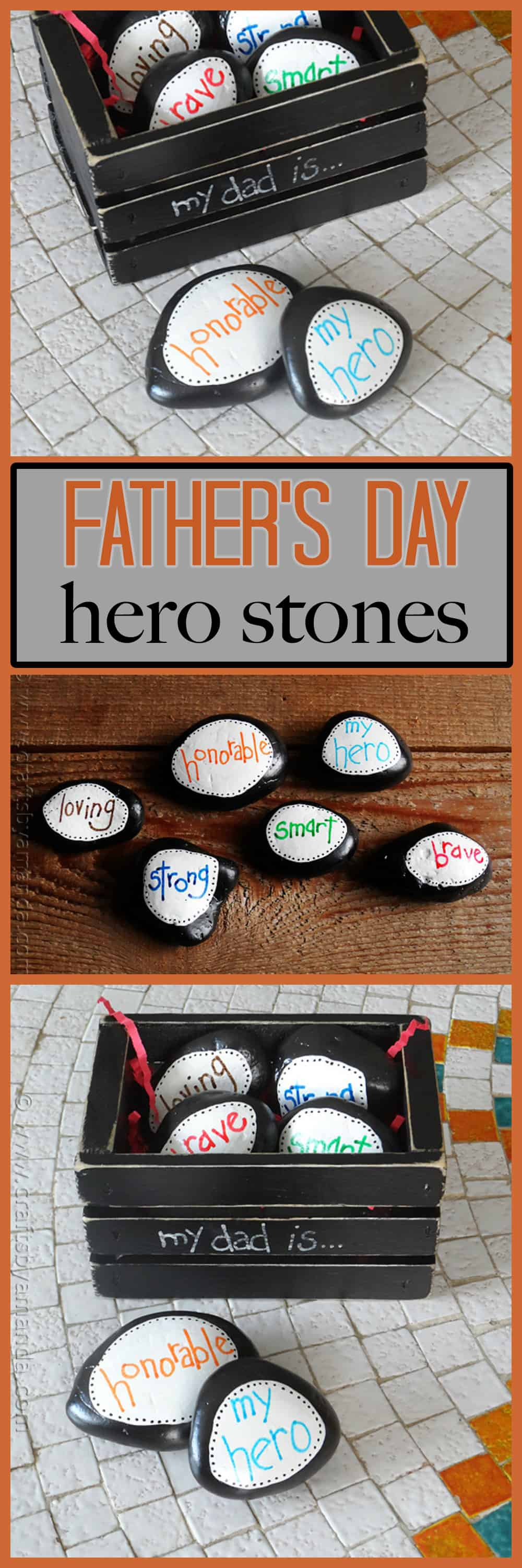 Paperweights have always made inexpensive and easy Father's Day gifts. Dad can use them at work at his desk, or at home in his own space. Plus, you customize these stones to let Dad know how you feel about him!