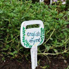 Make Plant Markers from Recycled Keys on CraftsbyAmanda.com @amandaformaro