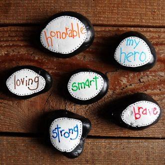 Father's Day Hero Stones by CraftsbyAmanda.com @amandaformaro