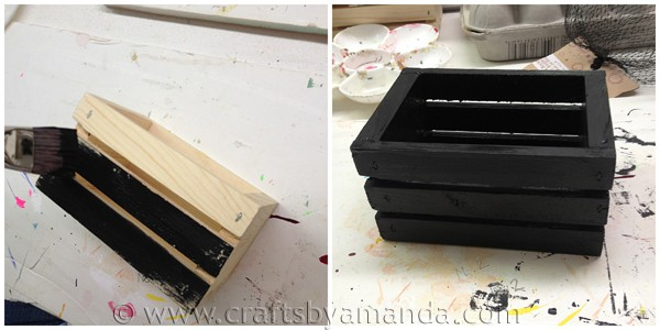 paint the wooden crate