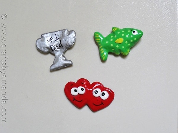 Salt Dough Father's Day Magnets by CraftsbyAmanda.com @amandaformaro
