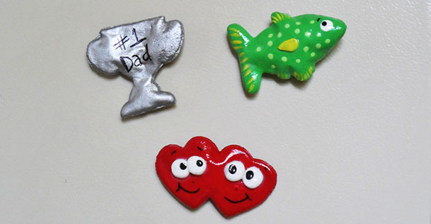 Salt Dough Father's Day Magnets