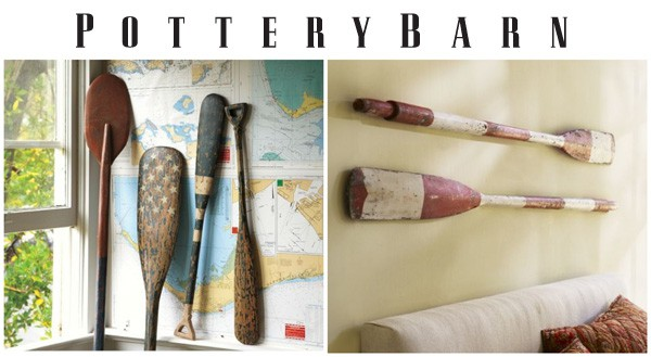 Pottery Barn Inspired Weathered Painted Oar by CraftsbyAmanda.com @amandaformaro