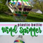 plastic bottle wind spinner pin image