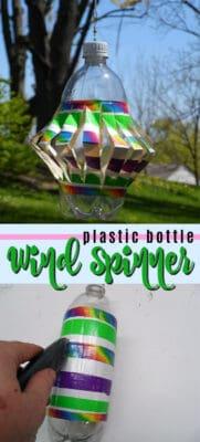 plastic bottle wind spinner pin image