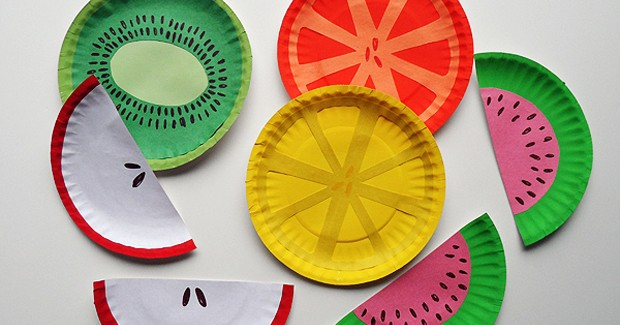 Paper Plate Fruit