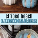 striped beach luminaries pin image