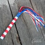 You can't go to a Memorial Day or Fourth of July parade without something to wave in the air, so we're going to make this duct tape parade stick with the kids.