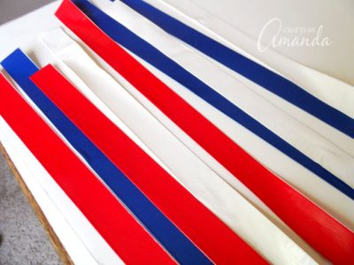 How to make a patriotic duct tape parade stick step 2