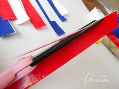 How to make a patriotic duct tape parade stick step 3