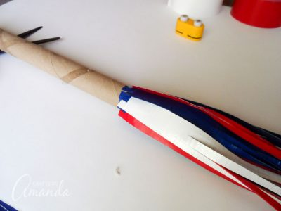 How to make a patriotic duct tape parade stick step 6