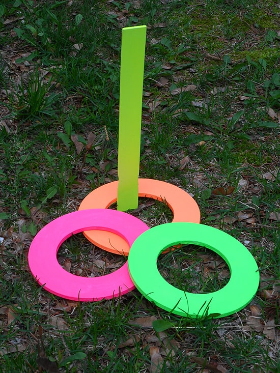 Diy rings for ring toss game
