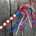 Patriotic Duck Tape Parade Stick