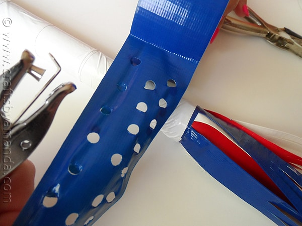 Patriotic Duck Tape Parade Stick at CraftsbyAmanda.com @amandaformaro