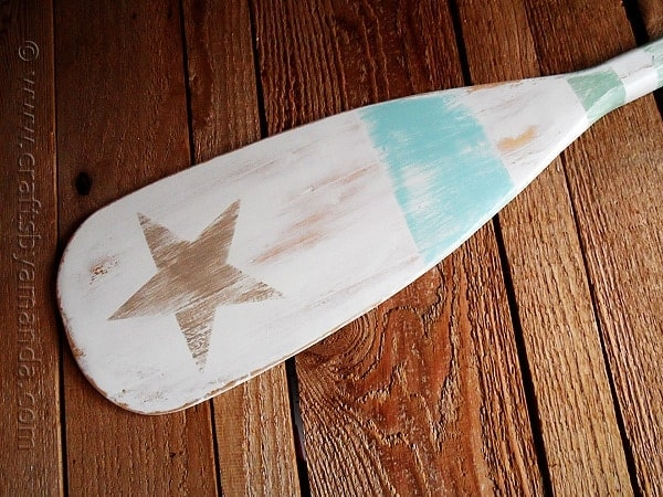 Pottery Barn Inspired Weathered Painted Oar Crafts By Amanda