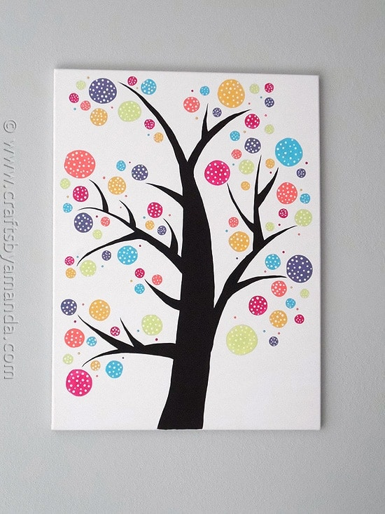 Polka Dot Circle Tree Crafts By Amanda