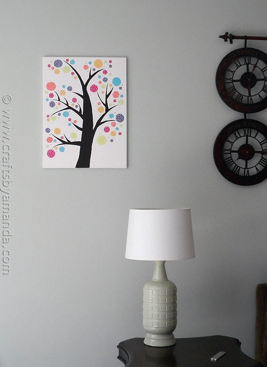 Polka Dot Circle Tree by @amandaformaro at CraftsbyAmanda.com
