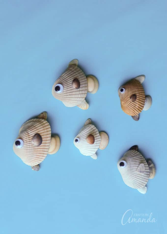 Fish made out of sea shells
