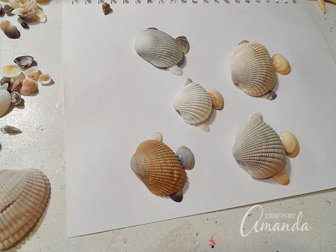 making fish out of seashells
