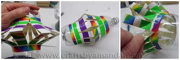 Recycled Plastic Bottle Wind Spinner at CraftsbyAmanda.com @amandaformaro