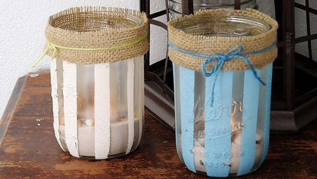 Striped Beach Luminaries Crafts By Amanda