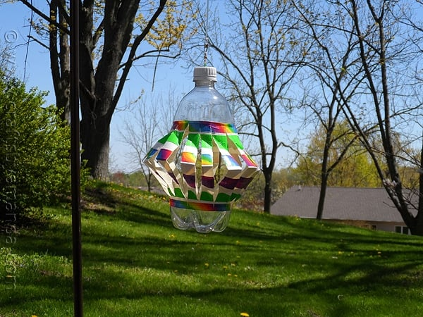 Recycled Plastic Bottle Wind Spinner - Crafts by Amanda