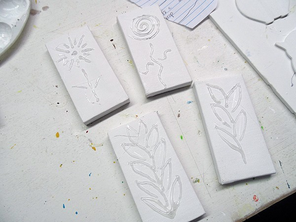 3D Botanical Mini Canvases by @amandaformaro CraftsbyAmanda.com