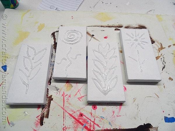 3D Botanical Mini Canvases by @amandaformaro CraftsbyAmanda.com