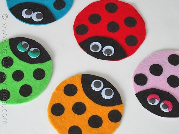 Recycled Cd Ladybugs Crafts By Amanda