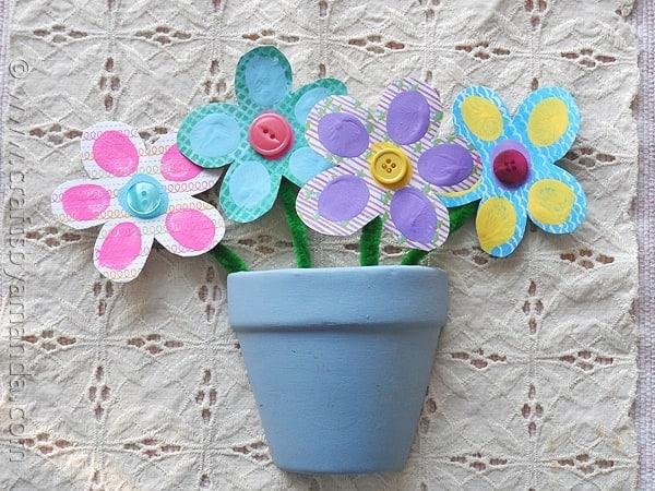 Colorful bouquet of fingerprint flowers