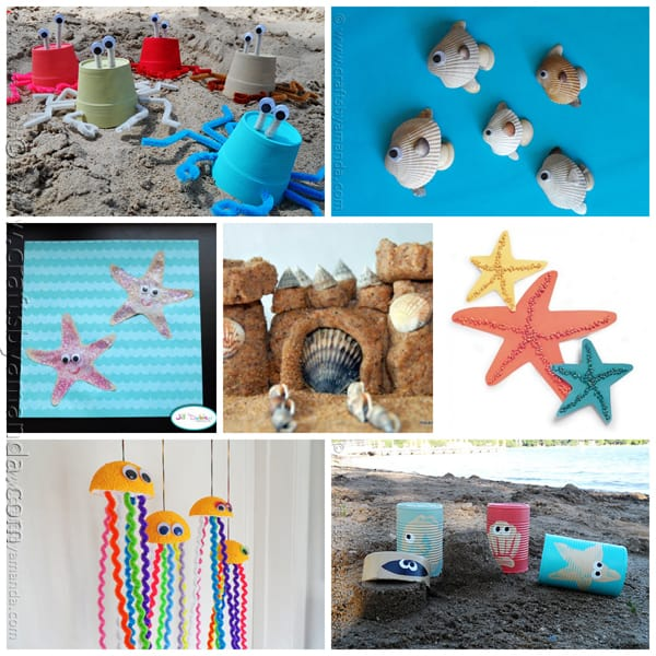 Beach Crafts for Kids by CraftsbyAmanda.com @amandaformaro