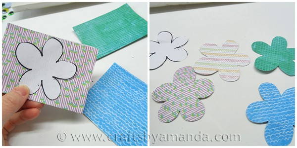 use pattern to cut out flowers