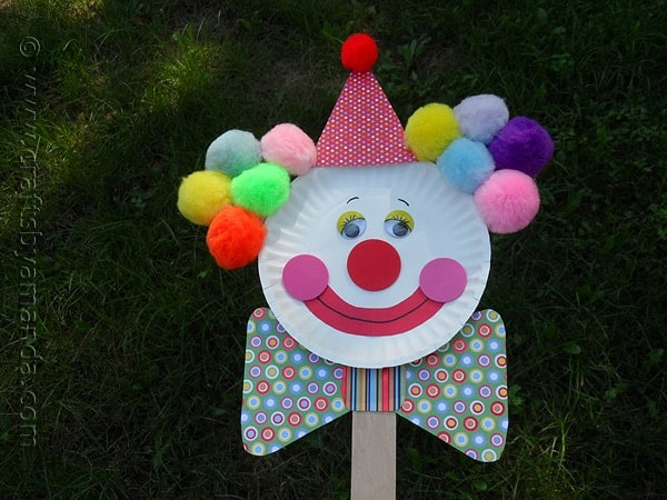 Paper Plate Clown Puppet by @amandaformaro CraftsbyAmanda.com : paper plate puppet - pezcame.com