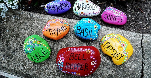 rock garden markers paint rocks to make markers for your