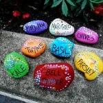 Painted Rock Garden Markers